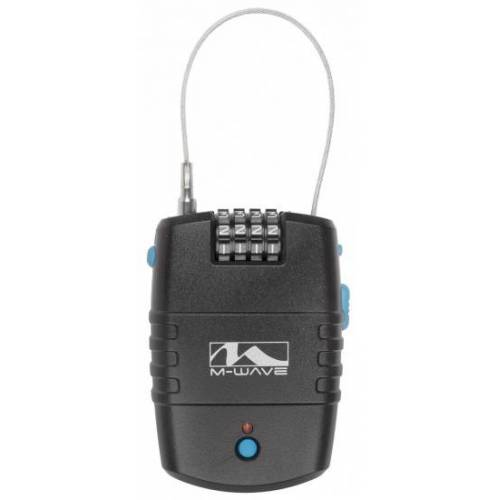 M-Wave M Wave Fahrrad Alarm 90 Dezibel aus schwarzem Kunststoff