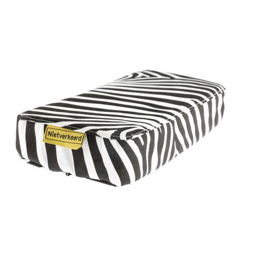 Niet Verkeerd gepäckträgerkissen Zebra 32 x 15 cm PVC schwarz/weiß