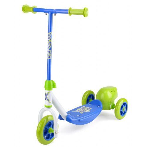 Xootz 3 wiel kinderstep Bubble Scooter Jungen Fußbremse Grün/Blau