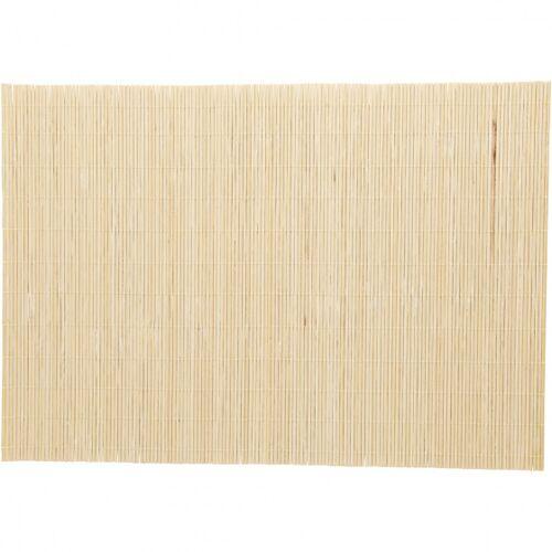 Creotime bambusmatte 45 x 30 cm beige 4 Stück