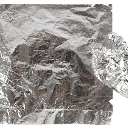 Creotime blechfolie 16 x 16 cm silber 25 Blatt