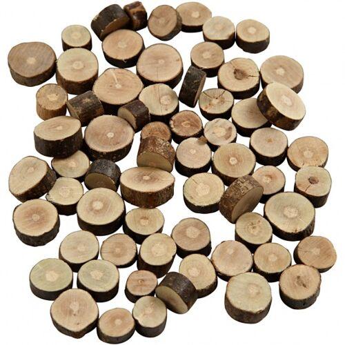 Creotime holzscheiben 10 15 mm rund 5 mm 230 Gramm