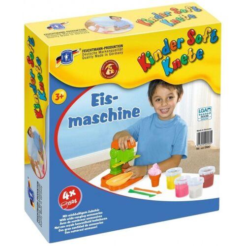 Feuchtmann Kinder Soft Knete Lehm Eismaschine 4 x 150g