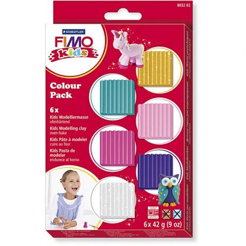 Staedtler Fimo Kinder Knete 42 Gramm Set 6 teilig mehrfarbig