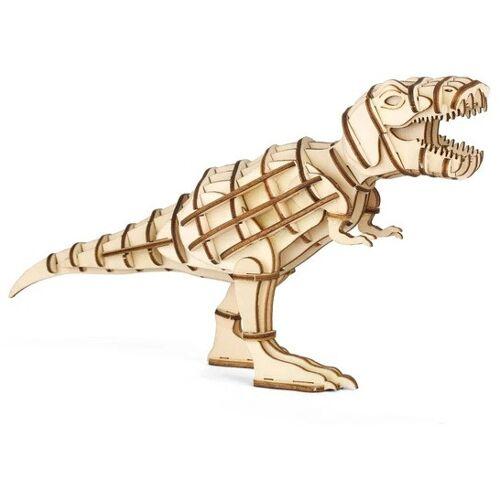 Kikkerland 3D Puzzle T Rex 16,5 x 9,5 cm Holz natur