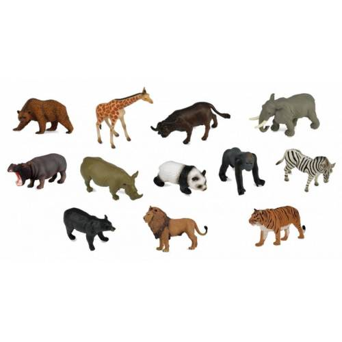 Collecta Wildtiere Set Mini 12 Stück 5 cm