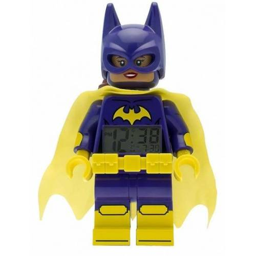 Lego Batman: Movie Batgirl Wecker 23 cm lila / gelb