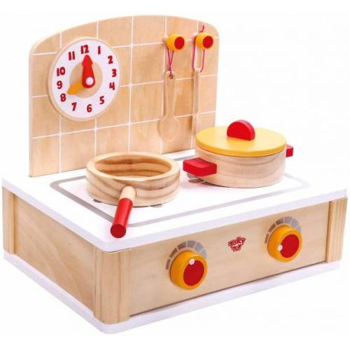 Tooky Toy spielzeugkocher Mädchen 30 cm Holz natur 5 teilig