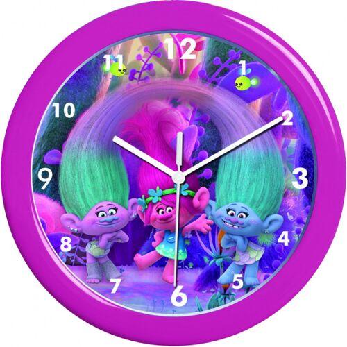 Trolls wanduhr Mädchen 25 cm Batterie lila