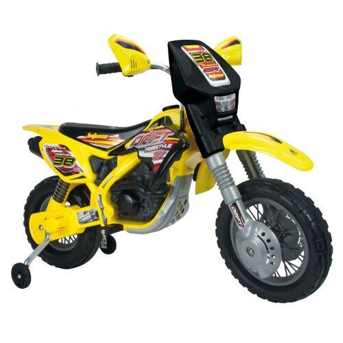 Injusa Batterie Fahrzeug Motorrad Thunder Max 12V 115 cm gelb