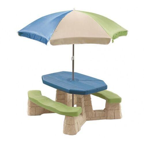 Step2 picknicktisch Verspieltes Picknick mit Sonnenschirm 183 cm