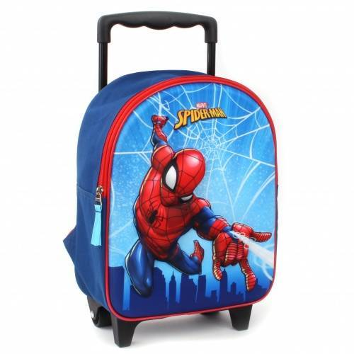 Marvel trolley Rucksack Spiderman 3D 9 Liter Polyester blau/rot