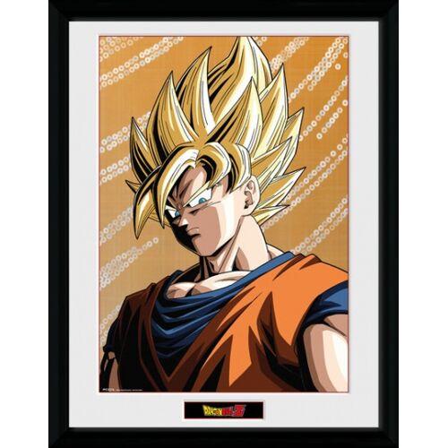 GB Eye poster im Rahmen Dragonball Z Goku gelb 30 x 40 cm