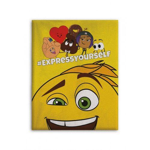 Emoji Fleece   Decke Emoji den Film 100 x 140 cm gelb