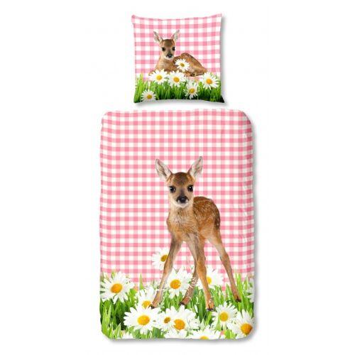 Good Morning Bambi Bettdecke 140 x 200/220 cm rosa