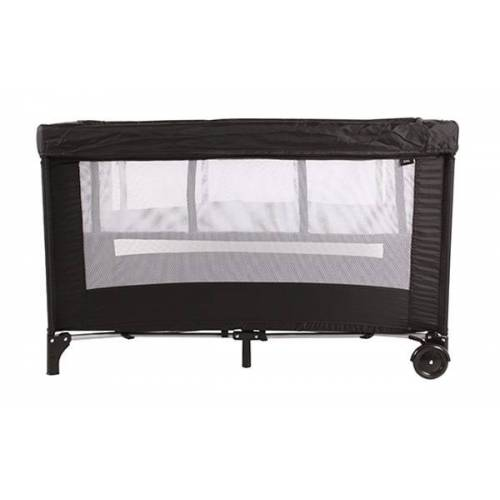 Kekk camping Kinderbett luxe junior 125 x 66 cm Polyester schwarz