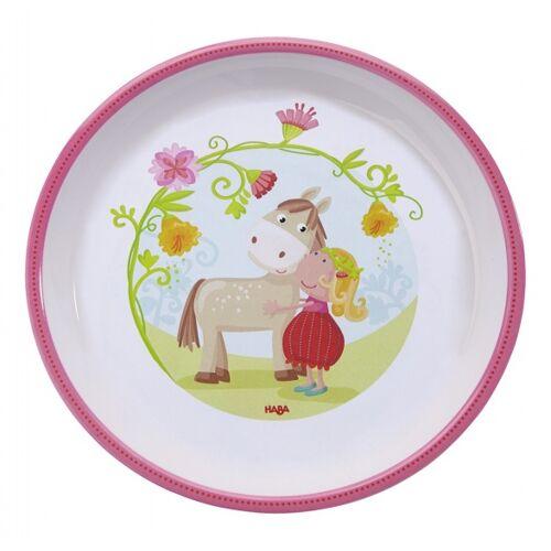 Haba teller Vicki & Pirli 18 cm weiß/rosa