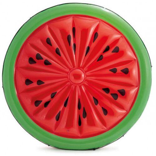 Intex luftmatratze Wassermelone 183 cm Vinyl rot/grün