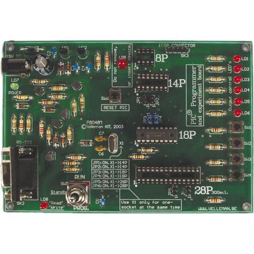 Velleman mikrocontroller 145 x 100 mm 12V DC 8P/14P/18P/28P