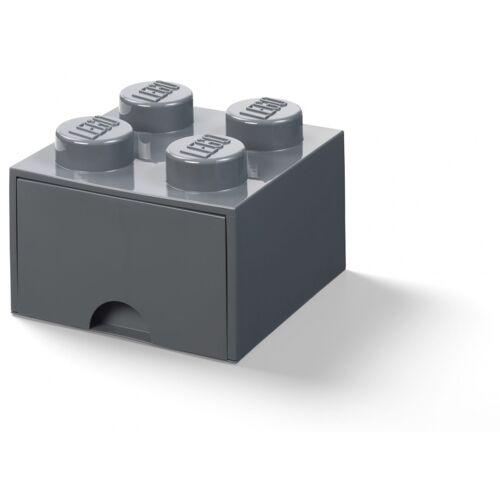 Lego aufbewahrungsbox mit Schublade 4 Noppen 25 x 25 x 18 cm PP grau