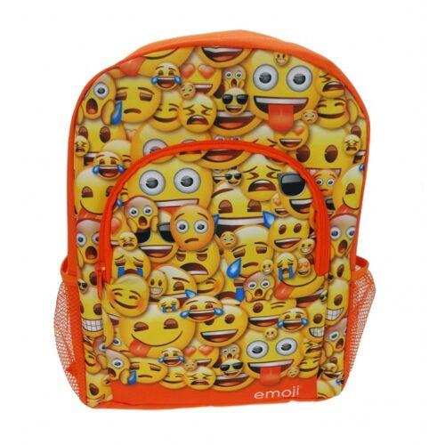 Emoji Rucksack 32 x 38 x 8 cm orange / gelb