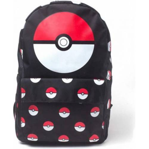 Pokémon rucksack Pokéball 24 Liter Polyester schwarz