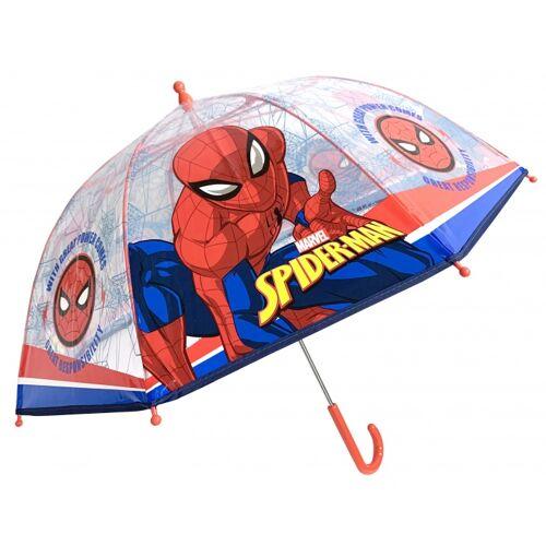 Chanos regenschirm Spiderman rot/transparent 45 cm