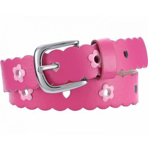 Playshoes gürtel Leder mit Blumen Junior rosa Größe 70 cm