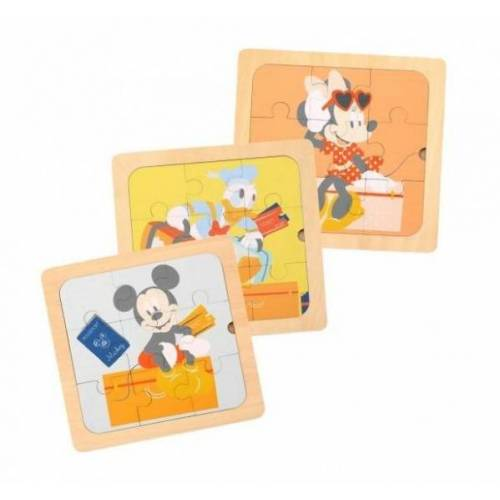 Disney puzzles Mickey Mouse junior 22 cm Holz 3 teilig
