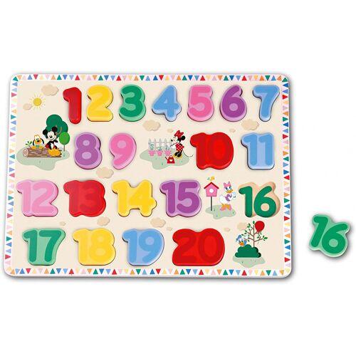Disney puzzle Cijfers Mickey Mouse junior Holz 20 Teile