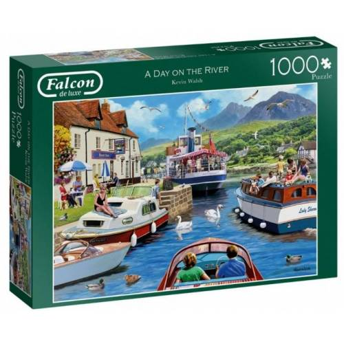 Falcon puzzle A Day on the River 1000 Teile