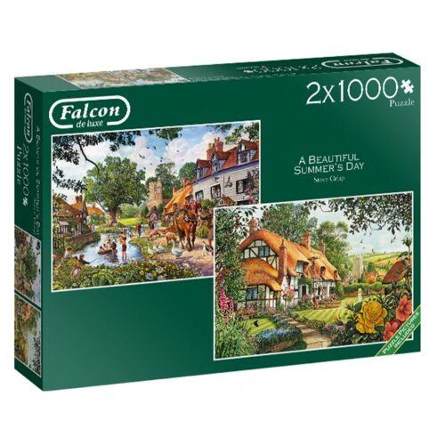 Falcon jigsaw Puzzle Ein schöner Sommertag 2x1000 Teile
