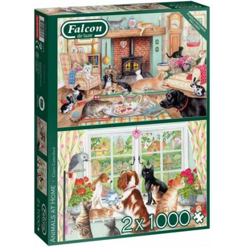 Falcon puzzlespiel Animals At Home 2 in 1 1000 Teile