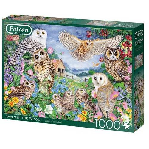 Falcon puzzle Owls In The Wood 1000 Teile