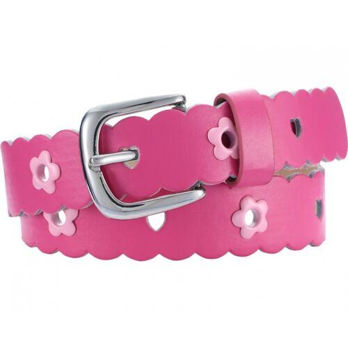 Playshoes gürtel Leder mit Blumen Junior rosa Größe 75 cm
