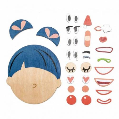 Tender Leaf Toys puzzle ''how's it going'' Gesicht Holz 32 teilig