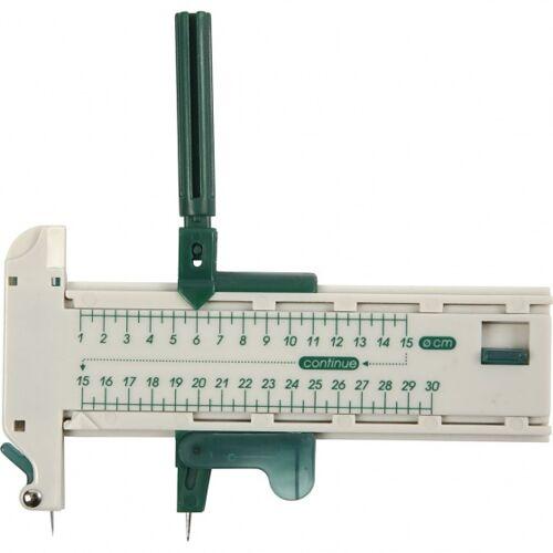 Creotime Kreisschneider 7,5 cm weiß/grün