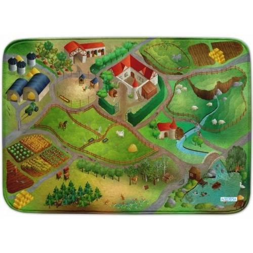 ACHOKA Spielteppich Farm Connect 100 x 150 cm