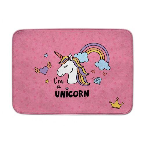 ACHOKA teppich Ich bin ein Einhorn 100 x 150 cm rosa