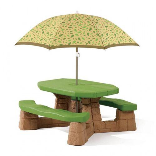Step2 picknicktisch Verspieltes Picknick mit Sonnenschirm 183 cm grün