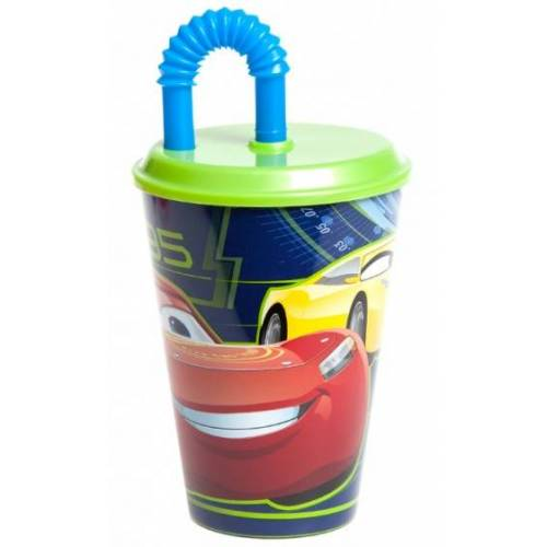 Disney trinkbecher Cars 3 mit Strohhalm 400 ml