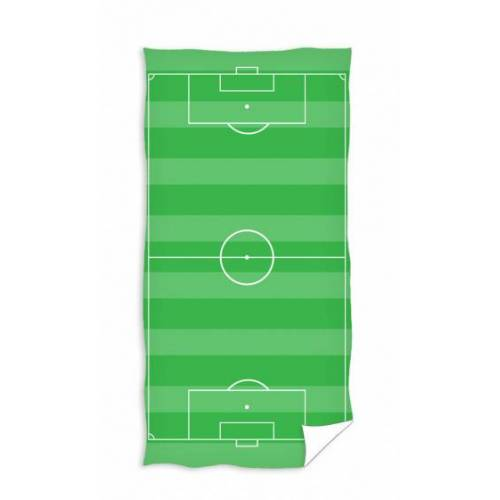 Carbotex strandtuch Fussballplatz 140 x 70 cm Polyester grün