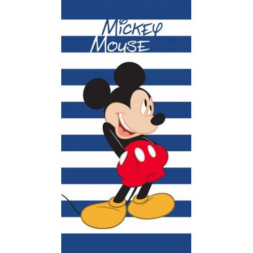 Disney strandhandtuch Mickey 70 x 140 cm Polyester blau