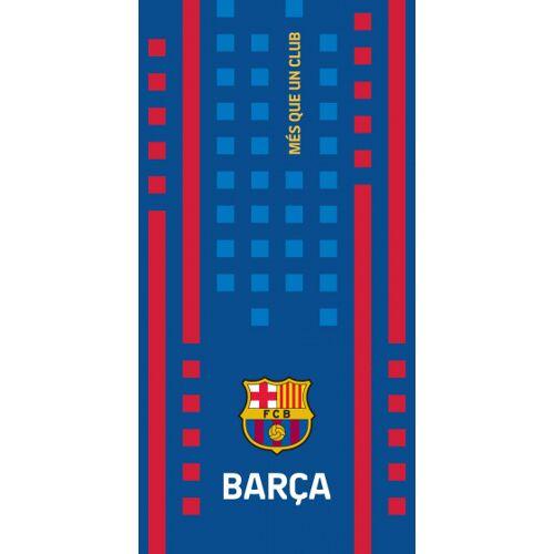 Carbotex strandhandtuch FC Barcelona 70 x 140 cm Baumwolle blau/rot