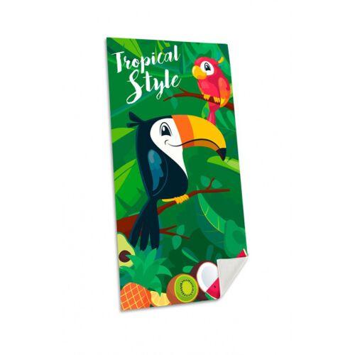 Kids Licensing strandtuch Tropical Style junior 70 x 140 cm grün