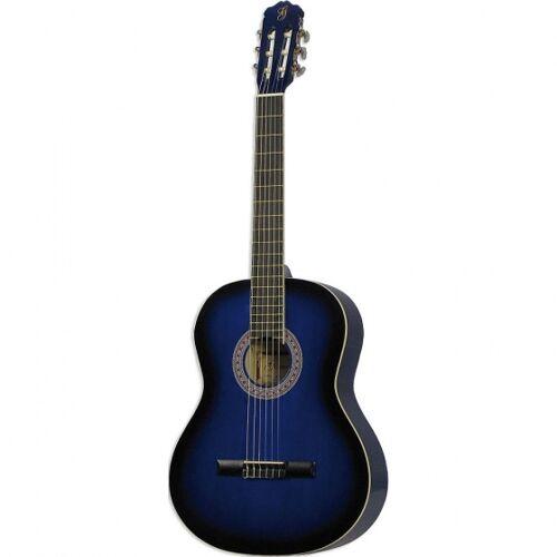 Gomez klassische Gitarre 001 4/4 Modell blau Sonnenbrand