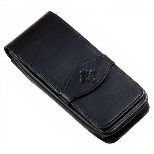Diplomat etui für 4 Stifte 15,5 x 6 cm Leder schwarz