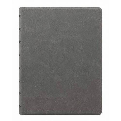 Filofax notizbuch A5 nachfüllbar 21 x 14,8 cm Papier grau