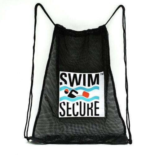 Swim Secure turnbeutel mit Kordelzug 29 x 26 cm Mesh schwarz
