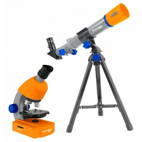 Bresser teleskop und mikroskop junior 35 cm orange